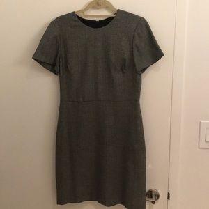 Banana Republic Grey Metallic Herringbone Dress
